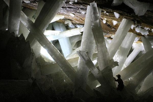 New Life Forms Discovered in Giant Crystals